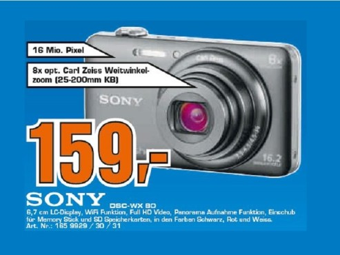 Sony DSC-WX 80 ©Saturn