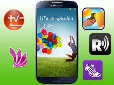 Samsung Galaxy S4/Apps ©Samsung, Sony Corporation, Rixa, Froggyware, Florian Güldenpfennig, Runtastic