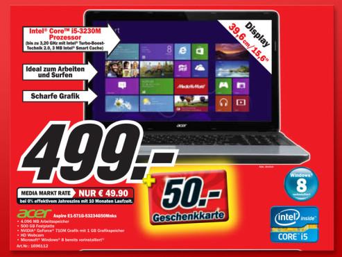 Acer Aspire E1-571G-53234G50Mnks ©Media Markt