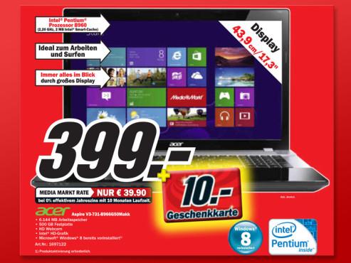 Acer Aspire V3-731-B966G50Makk ©Media Markt