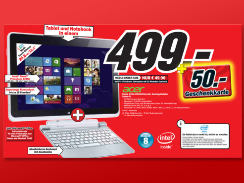 Acer Iconia W510-27602G3iss ©Media Markt