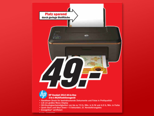 Hewlett-Packard HP DeskJet 2514 © Media Markt