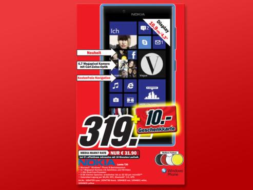 Nokia Lumia 720 ©Media Markt