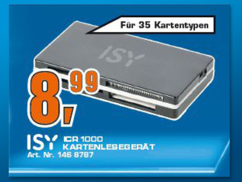 ISY Cardreader 35 in 1 ICR-1000 © Saturn