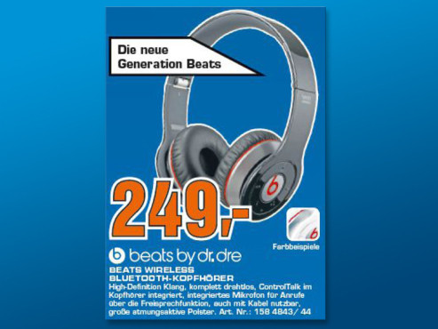 Monster Beats by Dr. Dre Wireless © Saturn