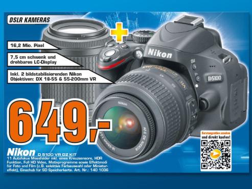 Nikon D5100 Kit 18-55 mm + 55-200 mm ©Saturn