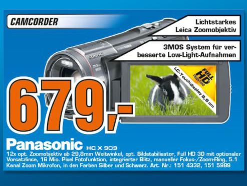 Panasonic HC-X909 ©Saturn
