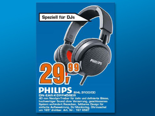 Philips SHL3100/00 © Saturn
