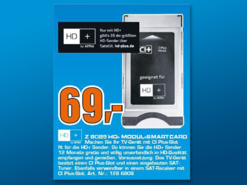 Sky Vision HD Modul inkl Smartcard CI ©Saturn