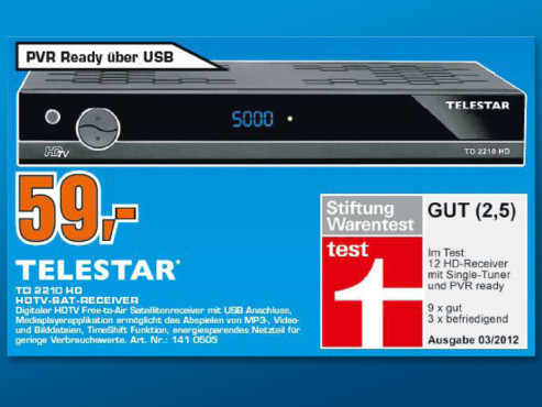Telestar TD 2210 HD ©Saturn