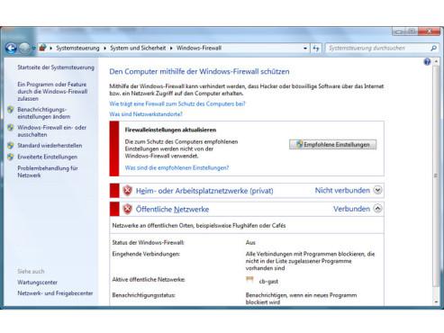 GodMode: Windows-Firewall einstellen ©COMPUTER BILD