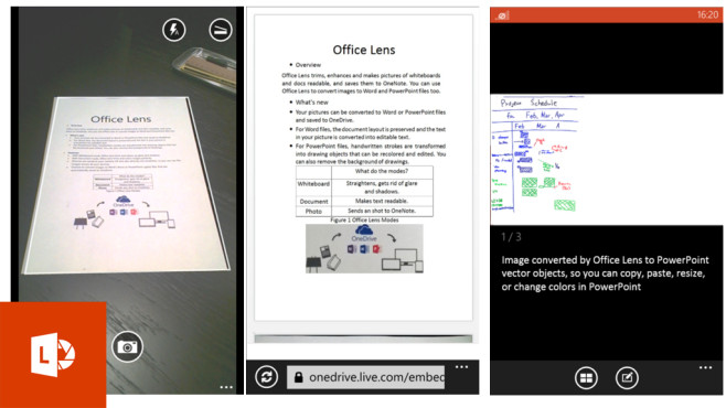 Office Lens © Microsoft Corporation