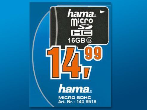 Hama microSDHC 16GB Class 10 (00114832) ©Saturn
