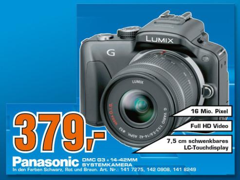 Panasonic Lumix DMC-G3 Kit 14-42 mm (DMC-G3K) ©Saturn
