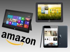 Das sind die 17 bestbewerteten Tablets bei Amazon ©Amazon, Microsoft, Acer, Apple