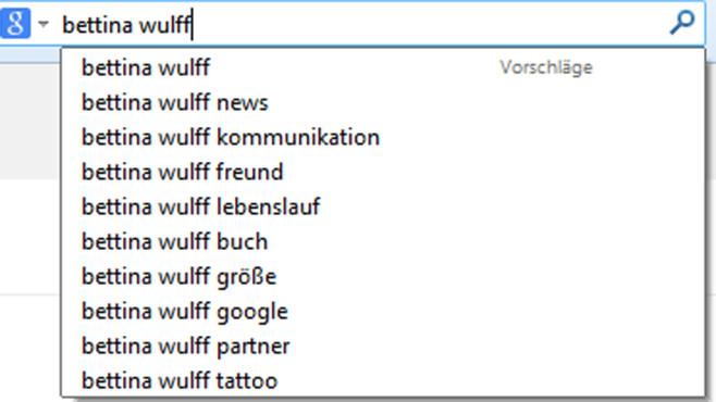 suchvorschlge wulff und google einigen sich computer bild - Bettina Wulff Lebenslauf
