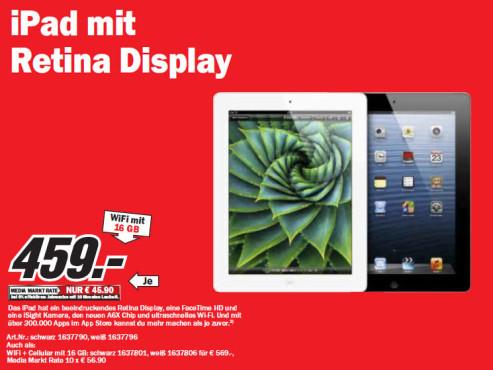 Apple iPad 4 16GB WiFi ©Media Markt