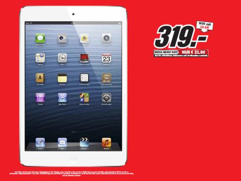 Apple iPad mini 16GB WiFi schwarz ©Media Markt