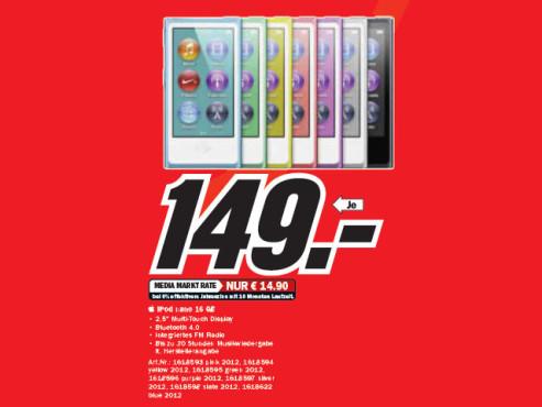 Apple iPod nano 7G 16GB ©Media Markt