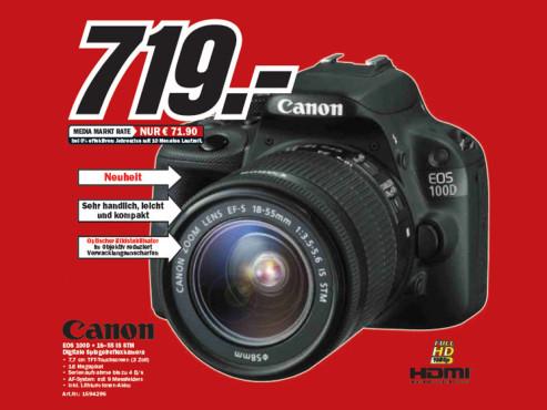 Canon EOS 100D Kit 18-55 mm ©Media Markt