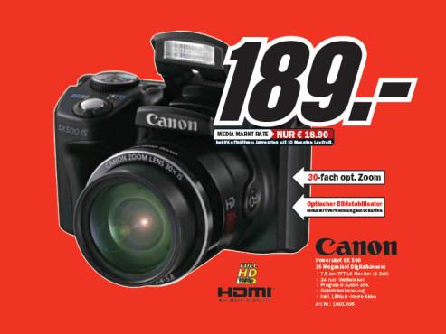Canon PowerShot SX500 IS ©Media Markt