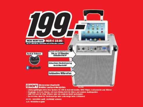 ION Block Rocker Bluetooth ©Media Markt