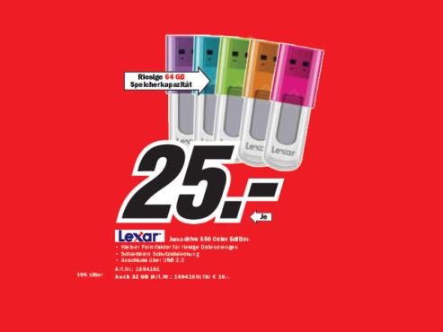 Lexar Jumpdrive S50 64GB ©Media Markt