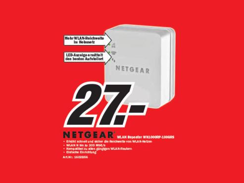 Netgear WLAN-Repeater (WN1000RP) ©Media Markt