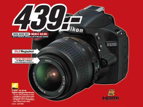Nikon D3200 Kit 18-55 mm ©Media Markt