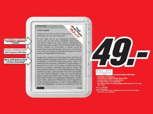 Oyo eReader 3G ©Media Markt