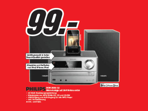 Philips DCM2020 ©Media Markt
