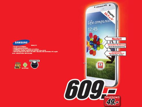 Samsung Galaxy S4 ©Media Markt