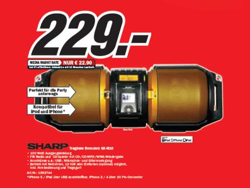 Sharp GX-M10HOR ©Media Markt