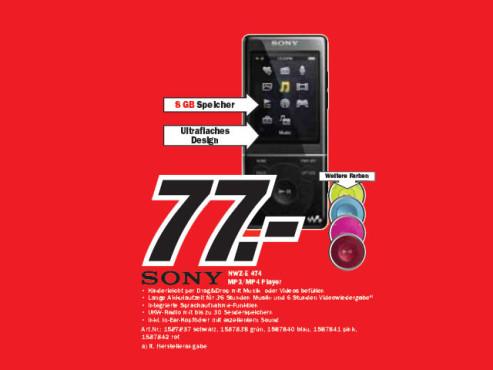 Sony NWZ-E474 ©Media Markt