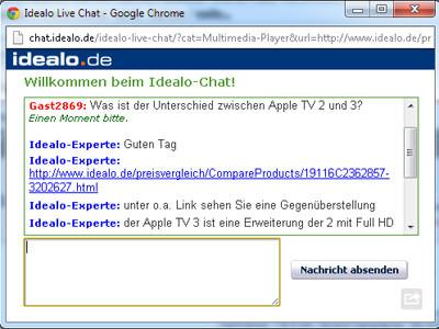Im Live-Chat werden Ihre Fragen beantwortet ©COMPUTER BILD