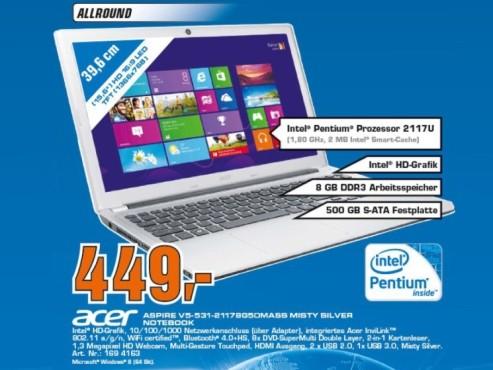 Acer Aspire V5-531 2117U ©Saturn