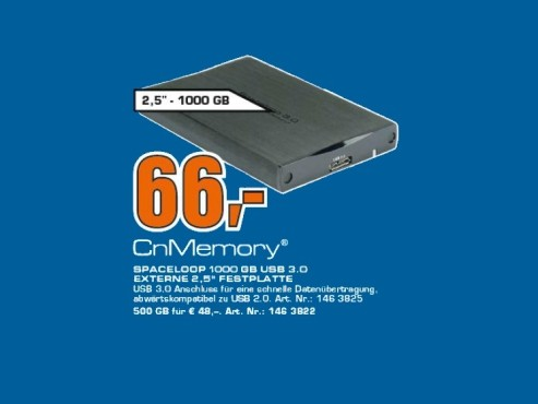 CnMemory 2.5 Spaceloop USB 3.0 1TB © Saturn