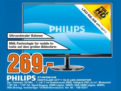 Philips 274E5QHAW © Saturn