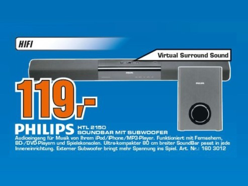 Philips HTL2150 © Saturn