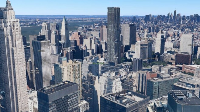 3D-Ansicht von New York in Google Maps © Google