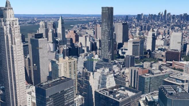3D-Ansicht von New York in Google Maps ©Google