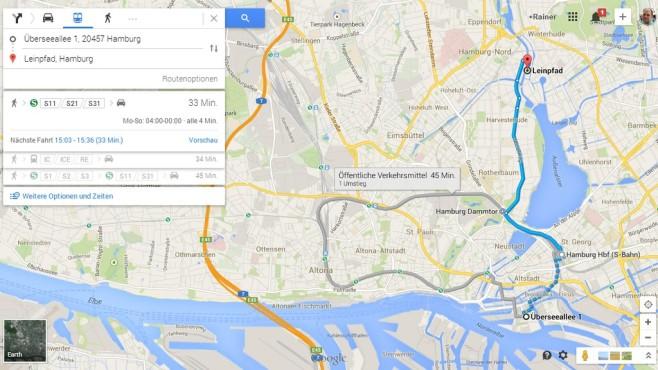 Google Maps neu ©Google