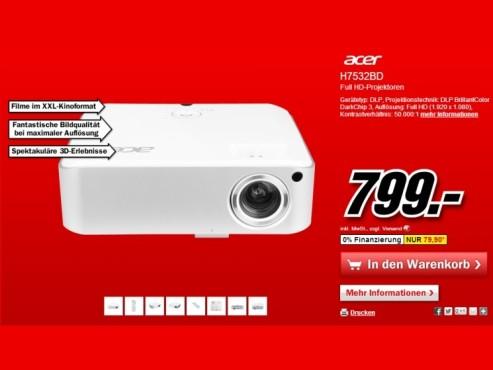 Acer H7532BD ©Media Markt