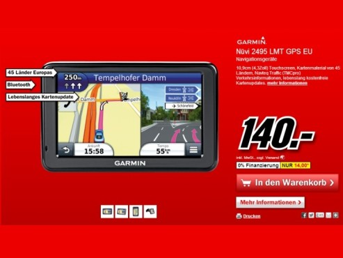Garmin nüvi 2495LMT Europe © Media Markt
