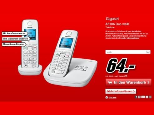 Gigaset A510A Duo ©Media Markt
