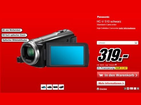 Panasonic HC-V210 ©Media Markt