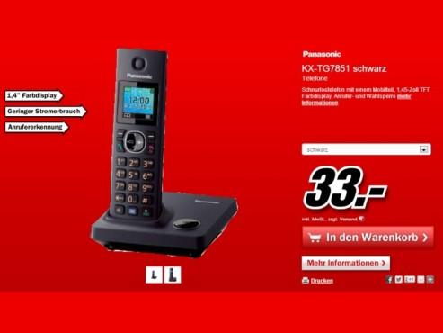 Panasonic KX-TG7851 ©Media Markt