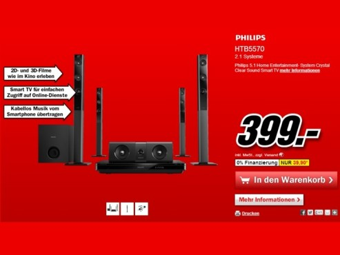 Philips HTB5570D © Media Markt