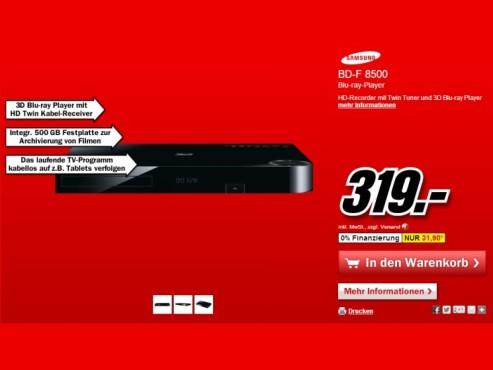 Samsung BD-F8500 ©Media Markt