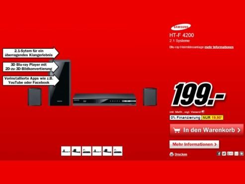 Samsung HT-F4200 ©Media Markt